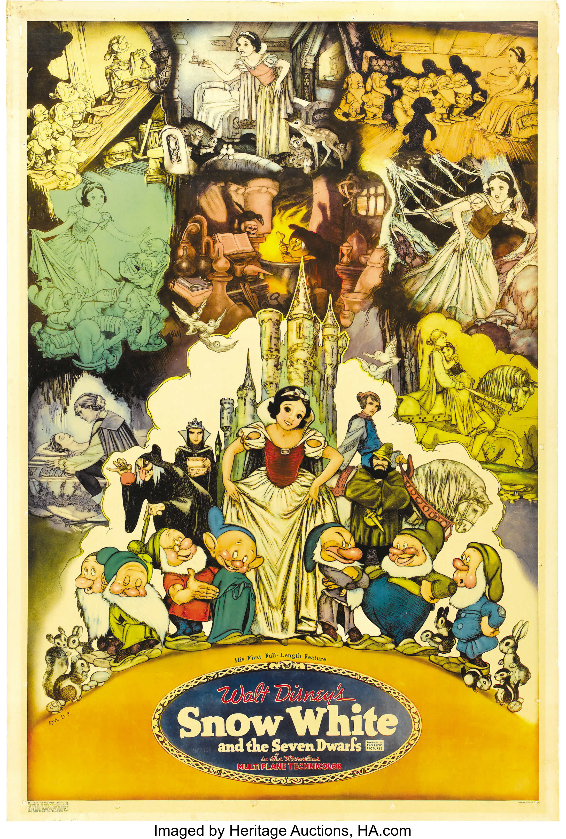Snow White And The Seven Dwarfs Rko 1937 Poster 40 X 60 Lot 28977 Heritage Auctions