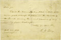 "Autographs:Statesmen, Attorney General Roger B. Taney Autograph Letter Signed ""R. B.Taney"". One page, 7.75"" x 5.25"", Washington, October 29, ...(Total: 1 Item)"