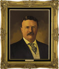"""Political:3D & Other Display (1896-present), Theodore Roosevelt and Alice Roosevelt Oil Portraits by LawrenceWilliams. Each oil portrait is 16"""" x 20"""" and framed in gilt...(Total: 2 Item)"""