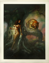 "Boris Vallejo - ""Manticore"" Painting Original Art (1992)"