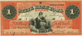 Obsoletes By State:Iowa, Dubuque, IA - State Bank of Iowa at Dubuque $1 Oct. 1, 1860 IA-1 G84 Oakes 60-6. Serial #1. PCGS Extremely Fine 40.. ...