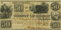Obsoletes By State:Arkansas, Columbia, AR - Treasurer of the County of Chicot April 5, 1844 $50 Interest Bearing Rothert 131-3. PCGS About New 53.. ...