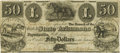 Obsoletes By State:Arkansas, Fayetteville, AR - Branch of the Bank of the State of Arkansas at Fayetteville $50 Post Note Oct. 1, 1838 AR-10 G166 Rothert 1...