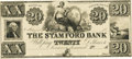 Obsoletes By State:Connecticut, Stamford, CT - Stamford Bank $20 18__ CT-405 G26 SENC. Proof. PCGS Very Choice New 64PPQ.. ...