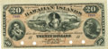 Obsoletes By State:Hawaii, Hawaiian Islands $20 No Date (1879) Silver Certificate of DepositSCWPM 2b. Remainder. PCGS Choice New 63.. ...