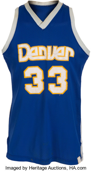 detailed look c2441 262ca 1976-80 David Thompson Game Worn Denver Nuggets Jersey ...