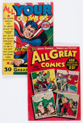 Golden Age (1938-1955):Miscellaneous, Fox Giants Group of 2 (Fox Features Syndicate, 1944-45) Condition: Average GD/VG.... (Total: 2 Comic Books)