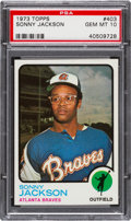 Baseball Cards:Singles (1970-Now), 1973 Topps Sonny Jackson #403 PSA Gem Mint 10 - Pop Two....