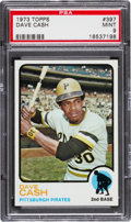 Baseball Cards:Singles (1970-Now), 1973 Topps Dave Cash #397 PSA Mint 9....