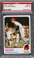 Baseball Cards:Singles (1970-Now), 1973 Topps Gaylord Perry #400 PSA Mint 9....