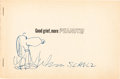 Original Comic Art:Sketches, Charles Schulz Good Grief, More Peanuts Book with Signed Snoopy Sketch Original Art (Rinehart & Company, 1956)....