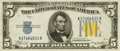Small Size:World War II Emergency Notes, Fr. 2307 $5 1934A North Africa Silver Certificate. PCGS Gem New 66PPQ.. ...