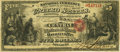 National Bank Notes:Missouri, Boonville, MO - $5 Original Fr. 397a The Central NB Ch. # 1584 PCGSFine 15.. ...