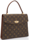 "Luxury Accessories:Accessories, Louis Vuitton Classic Monogram Canvas Malesherbes Bag . Good Condition. 10"" Width x 9"" Height x 2"" Depth, 4.5"" Handle ..."