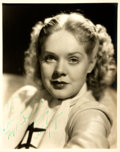 Autographs:Celebrities, Alice Faye Inscribed Photograph. Sepia-toned publicity photographdepicting American actress and singer Alice Faye. [N.p., n...