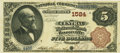 National Bank Notes:Missouri, Boonville, MO - $5 1882 Brown Back Fr. 469 The Central NB Ch. #1584 PCGS Very Fine 30. . ...