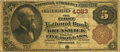 National Bank Notes:Missouri, Brunswick, MO - $5 1882 Brown Back Fr. 471 The First NB Ch. # 4083PCGS Fine 15 Apparent. . ...