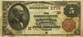 National Bank Notes:Missouri, Columbia, MO - $5 1882 Brown Back Fr. 471 The Boone County NB Ch. #(M)1770 PCGS Fine 12. . ...