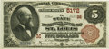 National Bank Notes:Missouri, Saint Louis, MO - $5 1882 Brown Back Fr. 477 The State NB Ch. #(M)5172 PCGS Choice About New 58PPQ.. ...