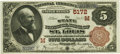 National Bank Notes:Missouri, Saint Louis, MO - $5 1882 Brown Back Fr. 477 The State NB Ch. #(M)5172 PCGS Gem New 66PPQ.. ...