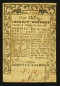 Colonial Notes:Rhode Island, Rhode Island May 1786 5s Very Fine.. ...