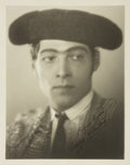 Autographs:Celebrities, [Hollywood]. Rudolph Valentino Publicity Photograph with Printed Inscription. Sepia-toned publicity photograph from the sile...