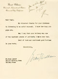 Autographs:Celebrities, Grant Williams, American film actor (1931-1985). Typed LetterSigned. Undated. ...