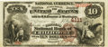 National Bank Notes:Missouri, Chillicothe, MO - $10 1882 Brown Back Fr. 484 The Citizens NB Ch. #4111 PCGS Extremely Fine 40.. ...