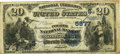 National Bank Notes:Alabama, Montgomery, AL - $20 1882 Date Back Fr. 555 The Fourth NB Ch. # (S)5877 PCGS Fine 15. . ...