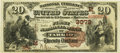 National Bank Notes:Missouri, Tarkio, MO - $20 1882 Brown Back Fr. 494 The First NB Ch. # (M)3079PCGS Very Fine 35PPQ.. ...