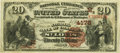 National Bank Notes:Missouri, Saint Louis, MO - $20 1882 Brown Back Fr. 498 The NB of CommerceCh. # (M)4178 PCGS Very Fine 35PPQ.. ...