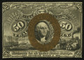 Fractional Currency:Second Issue, Fr. 1314SP 50¢ Second Issue Narrow Margin Face Choice New.. ...
