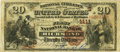 National Bank Notes:Virginia, Richmond, VA - $20 1882 Brown Back Fr. 494 The First NB Ch. #(S)1111. PCGS Fine 12 Apparent.. ...