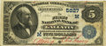 National Bank Notes:Missouri, Gallatin, MO - $5 1882 Value Back Fr. 574 The First NB Ch. #(M)5827 PCGS Fine 15 Apparent.. ...