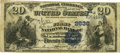 National Bank Notes:Missouri, Appleton City, MO - $20 1882 Value Back Fr. 581 The First NB Ch. #(M)2636 PCGS Fine 12.. ...