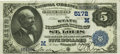 National Bank Notes:Missouri, Saint Louis, MO - $5 1882 Date Back Fr. 537 The State NB Ch. #(M)5172 PCGS Extremely Fine 40PPQ.. ...