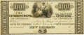 Obsoletes By State:Louisiana, New Orleans, LA - Citizens Bank of Louisiana $100 18__ LA-15 G44. Proof. PCGS About New 50. . ...