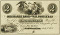 Obsoletes By State:Louisiana, New Orleans, LA - Insurance Bank of W.B. Partee & Co. $2 July 1, 1851. Proof. PCGS Choice About New 58PPQ. . ...