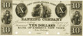 Obsoletes By State:Louisiana, New Orleans, LA - New Orleans Gas Light Banking Company pay at Bank of America, New York $10 18__ LA-115 UNL. Proof. PCGS Very...