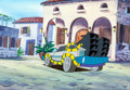 Animation Art:Production Cel, Back to the Future DeLorean Pan Production Cel and MasterPan Production Background (Universal, 1991). ... (Total: 2 OriginalArt)