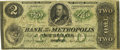 Obsoletes By State:Massachusetts, Boston, MA - Bank of the Metropolis $2 Sept. 2, 1861 MA-290 G4aSENC. PCGS Very Fine 20.. ...