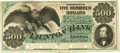 Obsoletes By State:Massachusetts, Taunton, MA - Taunton Bank $500 March 1, 186_ MA-1220 G130a SENC.PCGS About New 50 Apparent.. ...