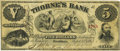 Obsoletes By State:Minnesota, Hastings, MN - Thorne's Bank $5 Sept. 1, 1863 MN-45 G6a SENC HewittB180-D5. PCGS Very Fine 25.. ...