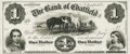 Obsoletes By State:Minnesota, Chatfield, MN - Bank of Chatfield $1 18__ MN-20 G2 UNL HewittB080-D1a. Proof. PCGS Gem New 65PPQ.. ...