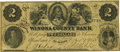 Obsoletes By State:Minnesota, Winona, MN - Winona County Bank $2 Nov. 1, 1858 MN-205 G6a HewittB940-D2b. PCGS Very Fine 30 Apparent.. ...