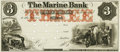 Obsoletes By State:Minnesota, St. Paul, MN - Marine Bank $3 18__ MN-141 G6a UNL Hewitt B660-D3b.Proof. PCGS Choice New 63.. ...