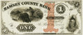 Obsoletes By State:Minnesota, St. Paul, MN - Ramsey County Bank $1 Dec. 1, 1858 MN-150 G2a HewittB700-D1b. Proof. PCGS Very Choice New 64.. ...