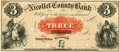 Obsoletes By State:Minnesota, St. Peter, MN - Nicollet County Bank $3 18__ MN-165 G6a HewittB760-D3. Proof. PCGS Gem New 66PPQ.. ...
