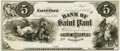 Obsoletes By State:Minnesota, St. Paul, MN - Bank of St. Paul $5 November 1, 1858 MN-155 G6Hewitt B720-D5a. Proof. PCGS Very Choice New 64.. ...