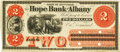 Obsoletes By State:New York, Albany, NY - Hope Bank of Albany $2 186_ NY-65 G4a SENC. Proof. PCGS Choice About New 58.. ...